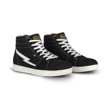 Cortech The Slayer Skate Style Canvas and Suede Riding Shoe - Black