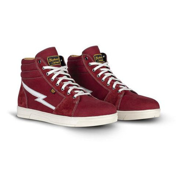 Cortech The Slayer Skate Style Canvas and Suede Riding Shoe - Maroon