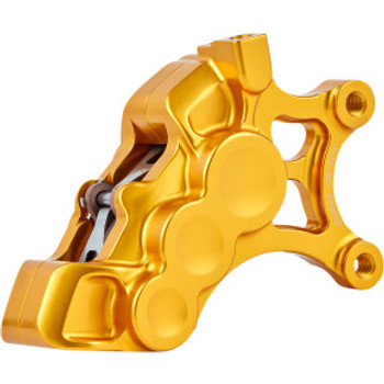 "Arlen Ness - Gold Six-Piston Differential Bore Front Brake Caliper for 14"" Rotors (Right Side)"