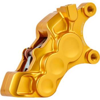 "Arlen Ness - Gold Six-Piston Differential Bore Front Brake Caliper for 11.8"" Rotors (Right Side)"