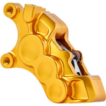 "Arlen Ness - Gold Six-Piston Differential Bore Front Brake Caliper for 11.8"" Rotors (Left Side)"