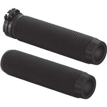 """Rough Crafts - Cable Grips - fits 1"""" Bars (Black)"""