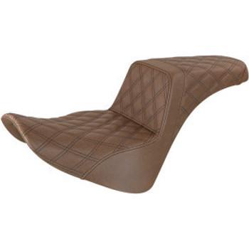 Saddlemen - Full Lattice Stitch Step-Up Seat fits '18-'20 FLSL/ FLDE/ FLHC/S M8 Softail Models (Brown)