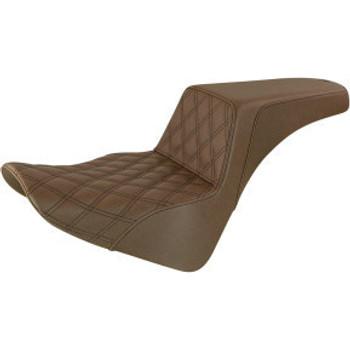Saddlemen - Front Lattice Stitch Step-Up Seat fits '18-'20 FLSL/ FLDE/ FLHC/S M8 Softail Models (Brown)