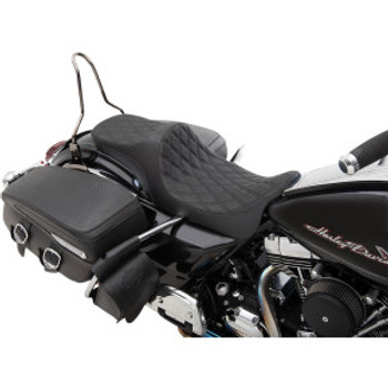 Drag Specialties - Predator III 2-Up Seats fits '08-'20 Touring Models (Double Diamond, Black Thread)