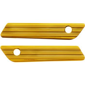 Arlen Ness - Gold 10-Gauge Saddlebag Latch Covers fits '14-'20 Touring Models
