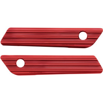 Arlen Ness - Red 10-Gauge Saddlebag Latch Covers fits '14-'20 Touring Models