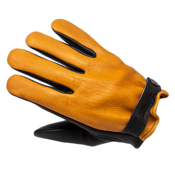 Deadbeat Customs - Jackson Two-Tone Deerskin Leather Gloves