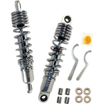 "Drag Specialties - Premium Standard Ride-Height Adjustable Shocks - Chrome fits '86-'03 XL (12"")"