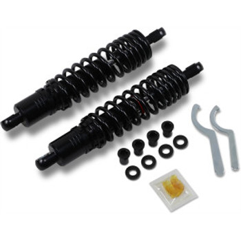 "Drag Specialties - Premium Heavy-Duty Ride-Height Adjustable Shocks - Black fits '86-'03 XL (12"")"