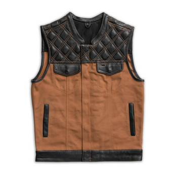 First Mfg - 49/51 Hunt Club Canvas/ Leather Vest