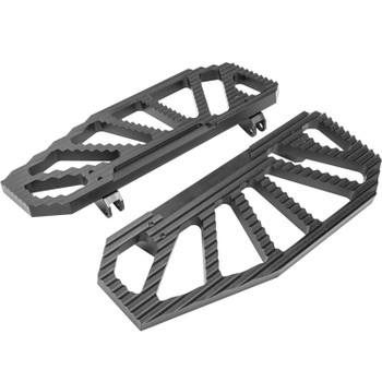 Hard Drive - Black Gripmax Floorboards fits '84 & Up FLH/FLT and '84-'17 FLST Models