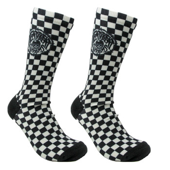 Deadbeat Customs - Skull Socks - Black/Gray