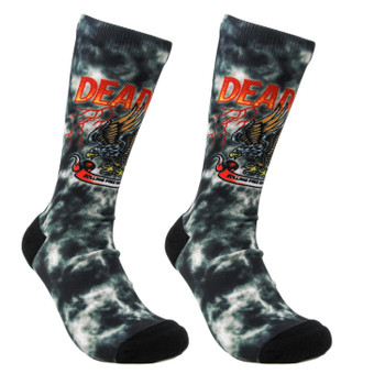 Deadbeat Customs - Freedom Storm Socks - Black Tie-Dye
