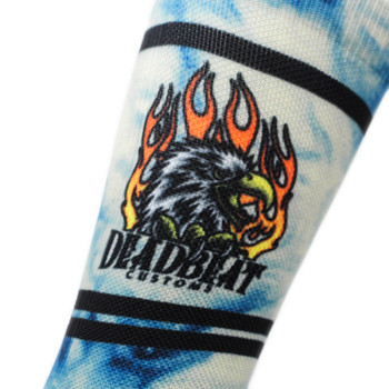 Deadbeat Customs - Flyin' High Socks - Blue Tie-Dye