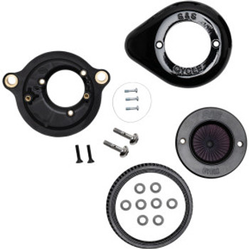 S&S Cycle - Air Stinger Stealth Air Cleaner Kit with Teardrop Cover fits '17-'20 M8 Softail Models (Gloss Black)