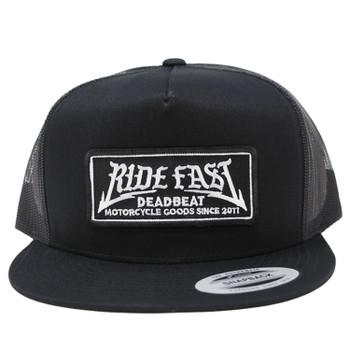 Deadbeat Customs - Ride Fast Snapback Hat W/ Under Brim - Black