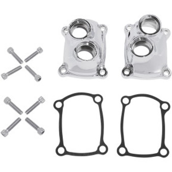 Drag Specialties - Chrome Tappet Block Cover fits '17-'20 M8 Softail Models Repl. OEM #25700410/25700411