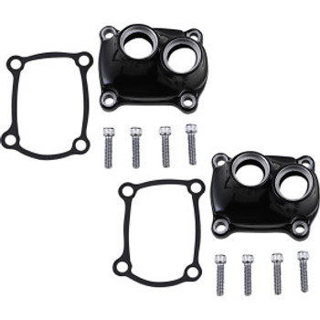 Drag Specialties - Gloss Black Tappet Block Cover fits '17-'20 M8 Softail Models Repl. OEM #25700890