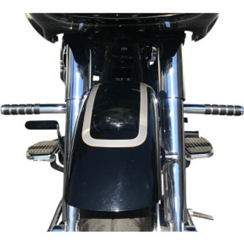 Lindby - Adjustable Footrests fits '94-'20 Touring Models W/O Fairing Lowers (Triple-Chrome-Plated)