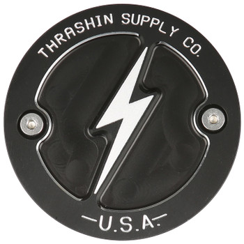 Thrashin Supply - Dished Points Covers fits '17-'20 M8 Softail Models (Black)
