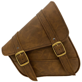 Willie and Max - Dual Shock Brass Monkey Swingarm Bag - Brown
