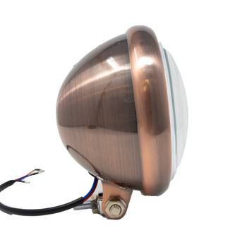"""Motorcycle Supply Co. 5.75"""" Clear Lens Copper Headlight"""