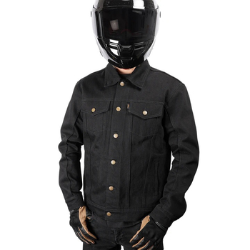 Thrashin Supply - Black Highway Denim Riding Jacket