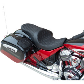 Drag Specialties - Low-Profile Touring Seats W/ Forward Positioning (Smooth, Vinyl)