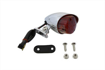 V-Twin Hi-Glide Bullet Style Tail Lamp - Chrome