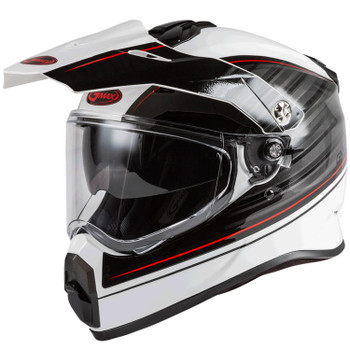 GMAX - AT-21 Helmet - Adult Raley White/Grey/Red