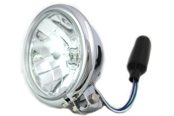 "V-Twin 5 3/4"" Bottom Mount Headlight 55/60W - Chrome"