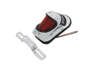 Chrome Beehive Style Taillight Standard Bulb - Steel Body