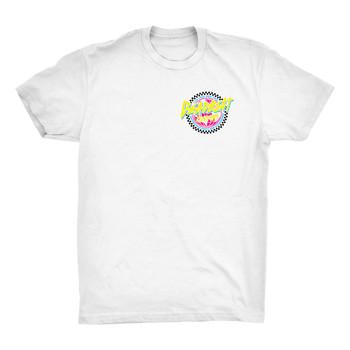 Deadbeat Customs Ride Free 80's White T-Shirt