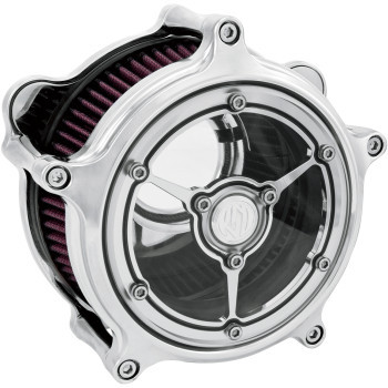 Roland Sands Design - Chrome Clarity Air Cleaner fits '08-'17 Twin Cam - Electronic Throttle