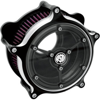 Roland Sands Design - Contrast Cut™ Clarity Air Cleaner fits '01-'17 Twin Cam EFI Models & '99-'06 CV Carb - Cable Throttle