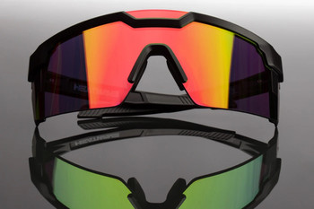 HeatWave Visual - Future Tech Black Frame Savage Spectrum Lens Sunglasses - ANSI Z87+