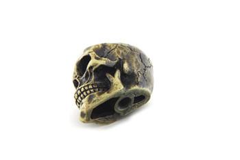 V-Twin Skull Shifter Knob w/ Brass Finish