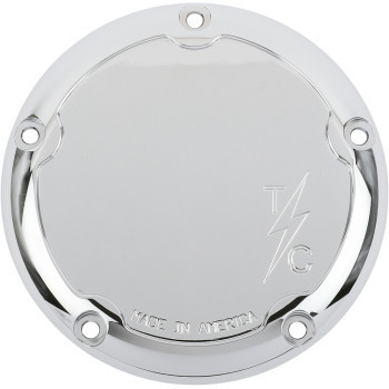 Thrashin' Supply - Dished Five-Hole Derby Covers fits '16-'20 Touring Models (Chrome)