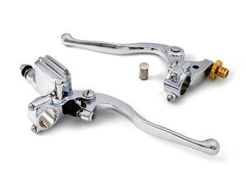 "V-Twin Hand Lever Assembly 9/16"" Bore Master Cylinder - Chrome"