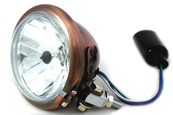 "V-Twin 4.5"" Copper Headlight - Clear Lens"