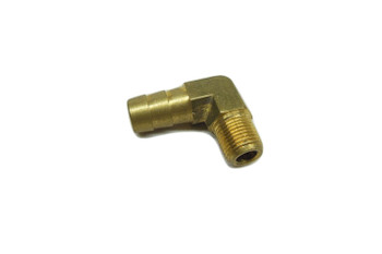"Motorcycle Supply Co. - 3/8"" Hose Barb 90 Elbow x 1/8"" NPT - Brass"