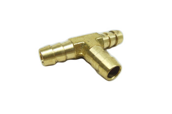 "Motorcycle Supply Co. - 3/8"" Hose Barb Tee Brass"