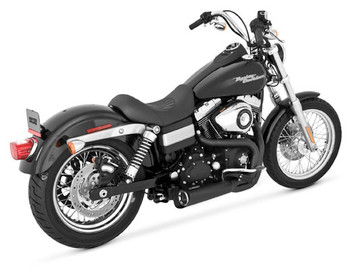 Vance and Hines - Competition 2 into 1 Exhaust System Black - fits '06-'17 Harley Dyna