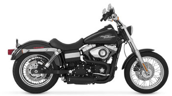 Vance and Hines - Competition 2 into 1 Exhaust System Black - fits '06-'14 Harley Dyna