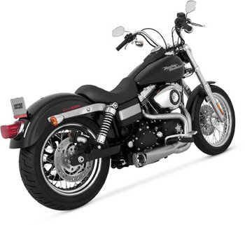 Vance & Hines - Competition 2 into 1 Exhaust System - fits '06-'17 Harley Dyna