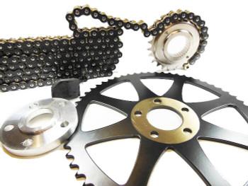 Deadbeat Customs x Bung King - Dyna Chain Conversion Kit 24/60 fits '06 - '14 Harley Dyna