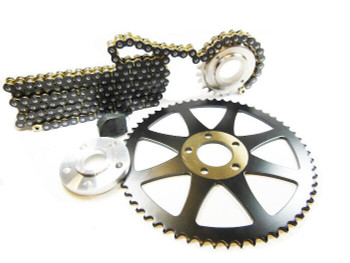 Deadbeat Customs x Bung King - Dyna Chain Conversion Kit 24/60 fits '06 - '14 Harley Dyna