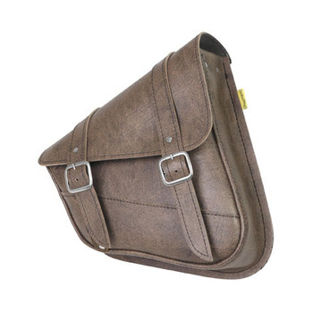 Willie and Max - Revolution Universal Swingarm Saddlebags - Brown - Right Side