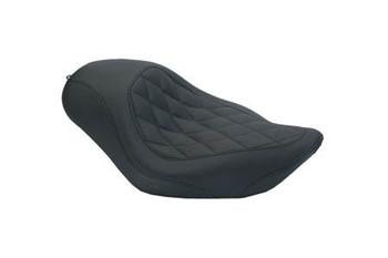Mustang Seats - Wide Tripper Diamond Stitch Solo Seat fits:Dyna '06-'14